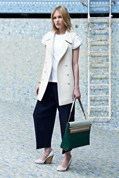 That vest. That bag. Those shoes. Want it all. Chloe Resort 2014 @Chloe Allen Fashion
