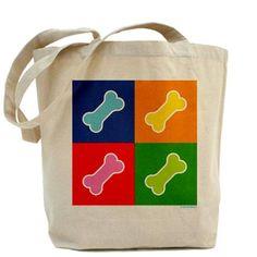 Dog Bone Pattern Tote Bag