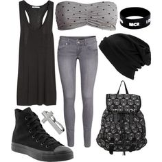 "nice ""Grey and black"" by firforlife on Polyvore... by http://www.dezdemonfashiontrends.xyz/punk-fashion/grey-and-black-by-firforlife-on-polyvore/"
