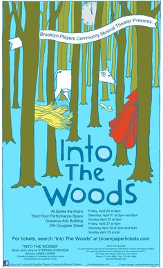 "reposting my ""Into The Woods"" poster, as I made changes 