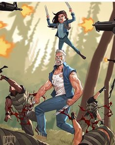 Logan and X-23, by ??
