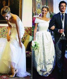 Rafael Medina, Duke of Feria and Laura Vecina wedding, October 2010 Royal Wedding Gowns, Royal Weddings, Wedding Bride, Dream Wedding, Wedding Dresses, White Weddings, Royal Tiaras, Royal Brides, Gorgeous Wedding Dress