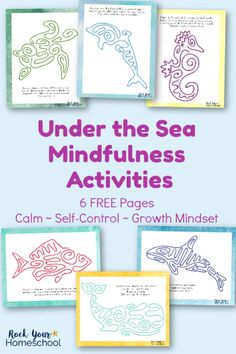 Mindfulness activities are amazing ways to help your kids learn self-control & practice growth mindset skills. Find out how you can use these 6 free printable Under the Sea Mindfulness Activities with your kids & get started today! #mindfulnessactivities #mindfulnessexercises #mindfulnessforkids #mindfulnessprintables #growthmindset #growthmindsetforkids Counseling Activities, Therapy Activities, School Counseling, Activities For Kids, Therapy Worksheets, Elementary Counseling, Elementary Schools, Mindfulness For Kids, Mindfulness Activities