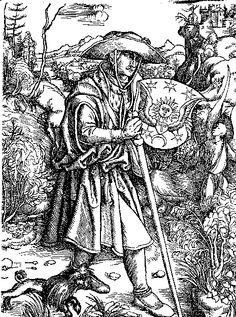 Medieval Pilgrim image by Albrecht Durer