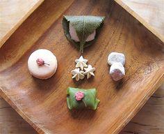 sakura, kirsikka, cherry blossom, wagashi, spring, kevät