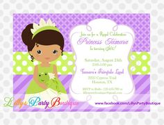 Princess Birthday Invitation by LillysPartyBoutique on Etsy, $15.00