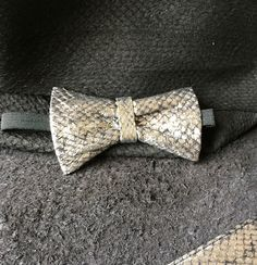 Check out our bow ties selection for the very best in unique or custom, handmade pieces from our shops. Silver Bow Tie, Leather Bow, Tie Styles, Bow Ties, Exotic, Bows, Fish, Handmade, Men