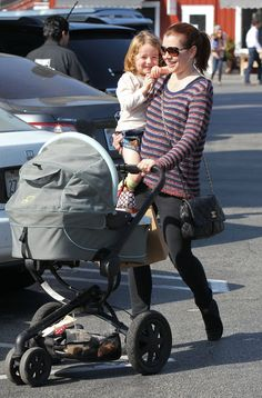 Hot Wheels! Celebrity Babies' Favorite Strollers : Alyson Hannigan and Keeva with our Quinny Moodd!  //Ahhhh! That's my stroller! But mines in red!