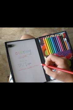 DIY drawing on the go! (made from old DVDcase)