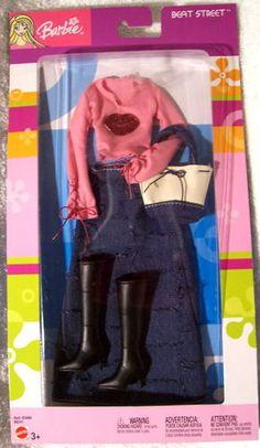 Fashion Avenue Barbie 2003 B8241 Beat Street Pink Top Long Jean Skirt NRFB | eBay