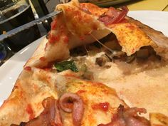 Calzone #bufala#basilico#melanzane cotte# pancetta croccante