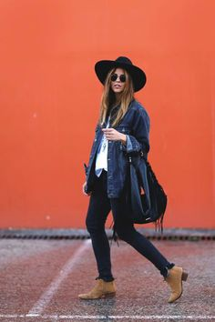 44 Mesmerizing Fall Outfits To Look Fantastic - Outfitcast - Outfits With Hats, Boho Outfits, Casual Outfits, Fashion Outfits, Womens Fashion, Hipster Fall Outfits, Estilo Fashion, Look Fashion, Hippie Chic