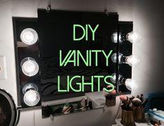 Bathroom Vanity Light Extension diy vanity light mirror - easy & quick (lisapullano) - youtube