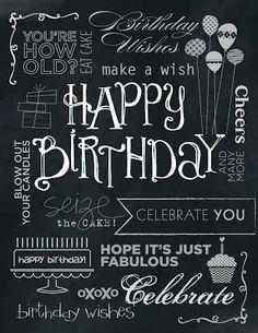 chalkboard nana birthday - Google Search