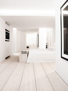 Anouska Hempel interior | Dinesen floors Home Furniture, Furniture Design, Cozy Bedroom, Modern Bedroom, Serene Bedroom, Wooden Flooring, Plank Flooring, Minimalist Interior, Minimalist Home