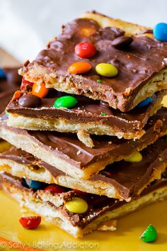 Crunchy, sweet, salty, and easy brown sugar buttery toffee with saltine crackers!  Remember December 10th 2012? Neither do I. But it was the day I posted chocolate peanut butter saltine toffee on my b