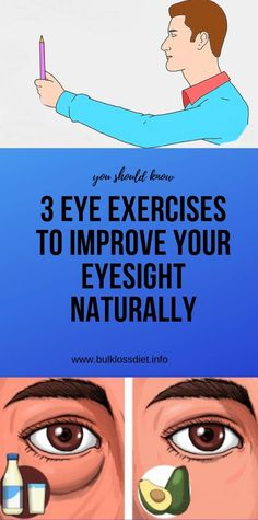Eye exercises help your eyes to maintain optimal vision, while making your eye muscles more flexible, and bringing energy and blood flow to the eyes. Everyday eye exercises improve your eyesight, f… Wellness Fitness, Wellness Tips, Fitness Tips, Health And Wellness, Health Fitness, Holistic Wellness, Health And Fitness Articles, Health Tips For Women, Health Advice