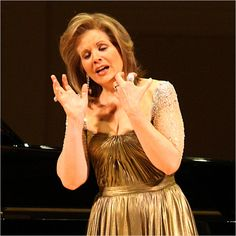 Renee Fleming... and she always has the most beautiful dresses.