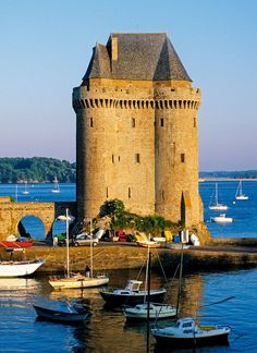 The Solidor Tower, 14th century in Saint-Malo, France