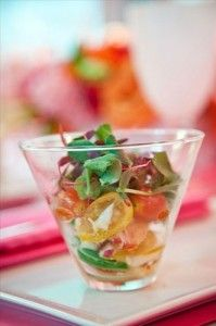 salad in small cups and then arrange them over ice! looks great and they stay fress! Wedding Hors D'oeuvres, Wedding Catering, Wedding Reception, Catering Display, Catering Food, Catering Ideas, Party Spread, Bbq Party, Food Porn