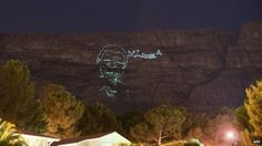 Mandela projected onto Cape Town's famous Table Mountain Hillsong Church, Table Mountain, Nelson Mandela, World Leaders, Cape Town, South Africa, Death, Corner, Street