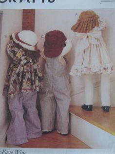McCall's Crafts 9262 Time Out Dolls by mariehotdeals on Etsy