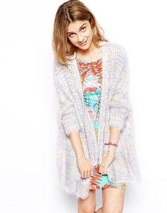 Kimono Cardigan In Fluffy Knit