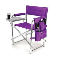 Sports Chair - Purple Very lightweight folding chair with shoulder strap is rated for 300 LBS! Insulated pockets. Great for fishing by the lake, picnics, camping and all of your outdoor fun.
