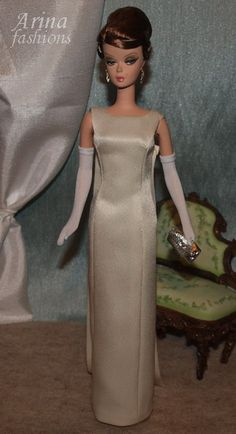 Jacqueline Kennedy ivory evening dress by arina_fashions, via Flickr