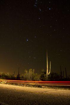 stars shine in the arizona desert night