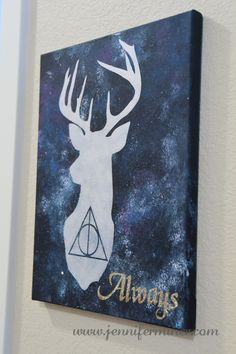 Harry Potter inspired art for our upcoming Harry Party Birthday Party. Features the Deathly Hallows and Harry's Patronus. (Geek Stuff Deathly Hallows)