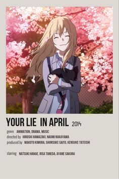 Movie Prints, Poster Prints, Simple Anime, Anime Suggestions, Animes To Watch, Anime Backgrounds Wallpapers, Your Lie In April, Anime Recommendations, Cute Poster