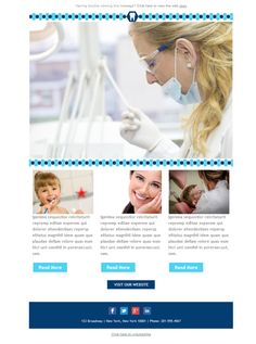 Transmíteles tu dedicación y profesionalismo a tus pacientes con esta plantilla versión responsive de Mailify.
