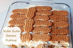 I made this NUTTER BUTTER PEANUT BUTTER BANANA PUDDING tonight at the office for all our team. They LOVED IT!!!