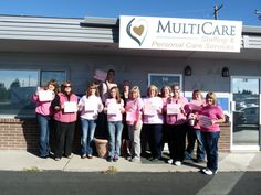 Group Pink Out At The Office ~ #BreastCancerAwareness #PinkOut #HomeHealthIdaho #HomeCareIdaho www.multicareinc.com