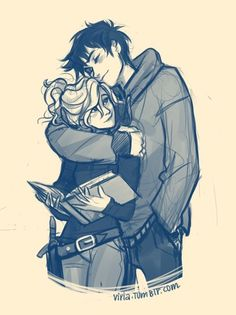 Day 4: Love. So this is PERCABETH. Percy + Annabeth from Rick Riordan's books. They are my OTP and I want to have love like theirs because it's full of adventures, drama, surprises and such. Plus, not even Tartarus could separate the two of them. ❤️❤️