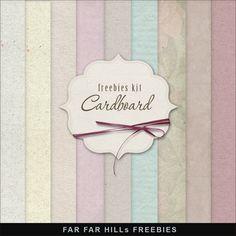 Far Far Hill: Freebies Cardboard Textures Background