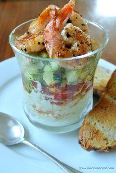 Avocado cream with grilled prawns - starters - cream # prawns . - Avocado cream with grilled shrimp – starters – cream - Brunch Recipes, Appetizer Recipes, Snack Recipes, Cooking Recipes, Grilled Prawns, Grilled Shrimp Recipes, Bbq Pork Ribs, Avocado Dessert, Pork Rib Recipes