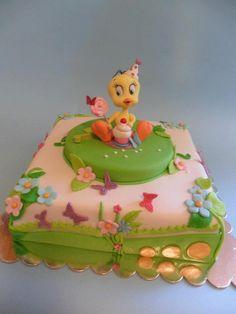 piolin Cake Cookies, Cupcake Cakes, Cupcakes, Tweety Cake, Looney Tunes Space Jam, Rodjendanske Torte, Funny Cake, Warner Bros, Amazing Cakes