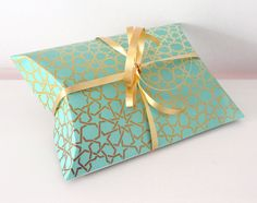 Free pillow box template printable. Eid Gift Giving!
