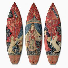 'the lady and the unicorn' surfboards