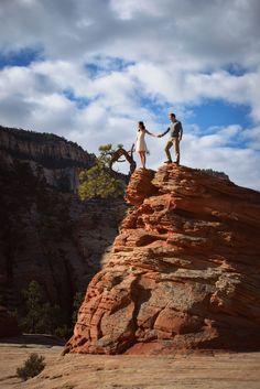 Zion National Park engagement photography