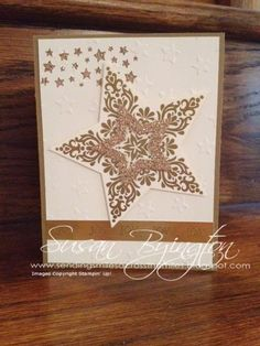 Sending Smiles Across The Miles: Bright & Beautiful Christmas card with Stampin' Up! products from the Holiday 2014 Catalog.