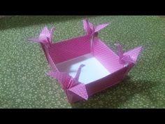 折り紙 鶴の器 Origami Box of the crane - YouTube