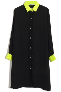 #Romwe Color Block Black Dress
