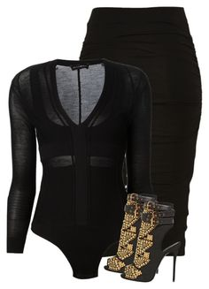 """""""Untitled #165"""" by cutefashiion ❤ liked on Polyvore featuring Narciso Rodriguez and Giuseppe Zanotti"""