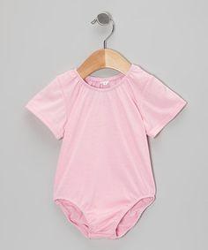 Loving this Pink Elasticized Leotard - Infant & Girls on #zulily! #zulilyfinds