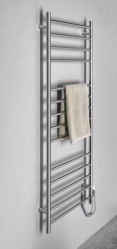 REDONDO Elektrický sušák ručníků s časovačem, kulatý, 600x1500 mm, 130 W, nerez : SAPHO E-shop Radiators, Towel, Bathroom, Washroom, Radiant Heaters, Full Bath, Bath, Bathrooms