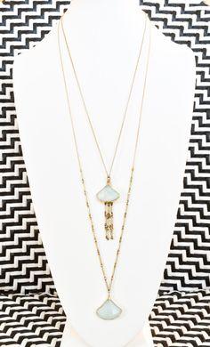 Gold Matinee Necklace with Jade and Vintage Brass Chain - Ilia Matinée Necklace by Evening Sun by EveningSunStudio on Etsy #iliamatinee #iliaoperanecklace #weareveningsun