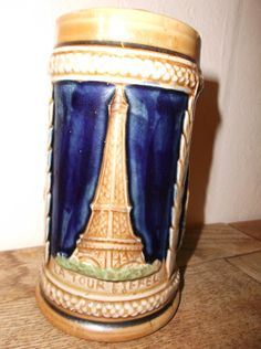 Vintage French Parisian Porcelain Tankard with by Retromagination